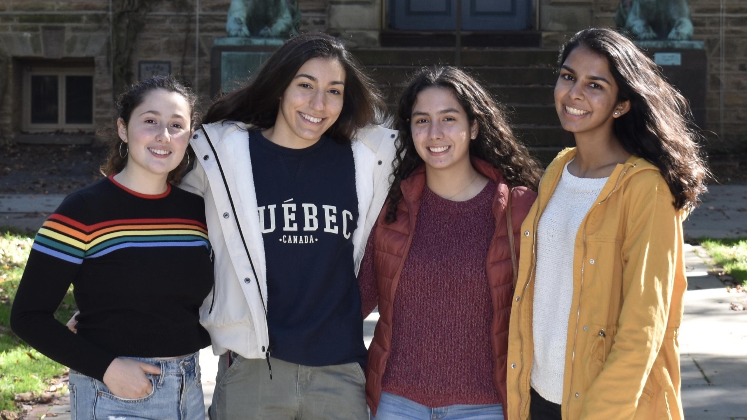 Anna Prilutsky, Eleni Retzepis, Franchesca Doell, and Anjali Kapoor