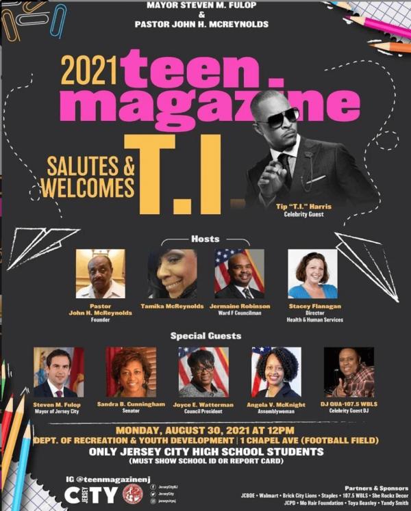 "Flyer publicizing event honoring Rapper Tip ""T.I."" Harris"