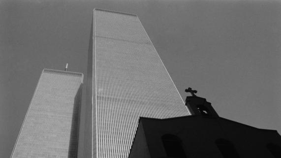 World Trade Center black and white